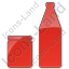 Drinks Jar Bottle Plain Red Icon