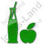 Drinks Juice Plain Green Icon