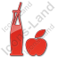 Drinks Juice Plain Red Icon