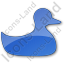 Duck Plain Blue Icon