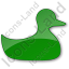 Duck Plain Green Icon