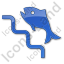 Fish Ladder Plain Blue Icon