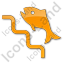 Fish Ladder Plain Orange Icon, PNG/ICO, 64x64