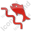 Fish Ladder Plain Red Icon