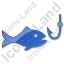Fishing Plain Blue Icon