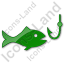 Fishing Plain Green Icon