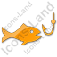 Fishing Plain Orange Icon