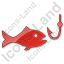 Fishing Plain Red Icon