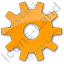 Gear Plain Orange Icon
