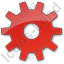 Gear Plain Red Icon