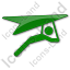 Hang Gliding Plain Green Icon