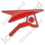 Hang Gliding Plain Red Icon