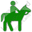 Horse Riding Plain Green Icon