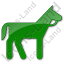 Horse Plain Green Icon