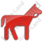 Horse Plain Red Icon
