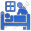 Hospice Plain Blue Icon, PNG/ICO, 64x64