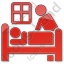 Hospice Plain Red Icon, PNG/ICO, 64x64