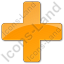 Hospital Cross Plain Orange Icon