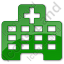 Hospital Facility Plain Green Icon