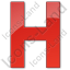 Hotel H Plain Red Icon