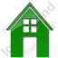 House Plain Green Icon