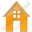 House Plain Orange Icon, PNG/ICO, 64x64