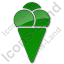 Ice Cream Plain Green Icon
