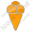 Ice Cream Plain Orange Icon