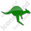 Kangaroo Plain Green Icon