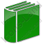 Library Book 3D Plain Green Icon