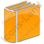 Library Book 3D Plain Orange Icon