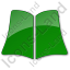 Library Book Plain Green Icon