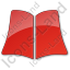 Library Book Plain Red Icon