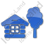 Lodge Plain Blue Icon