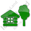 Lodge Plain Green Icon
