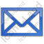 Mail Envelope Plain Blue Icon