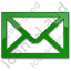 Mail Envelope Plain Green Icon, PNG/ICO, 64x64
