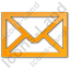 Mail Envelope Plain Orange Icon