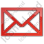 Mail Envelope Plain Red Icon
