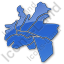 Map District Plain Blue Icon, PNG/ICO, 64x64