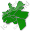 Map District Plain Green Icon