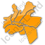 Map District Plain Orange Icon, PNG/ICO, 64x64