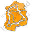 Map Roads Plain Orange Icon