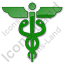 Medicine Caduceus Plain Green Icon