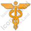 Medicine Caduceus Plain Orange Icon
