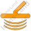 Metal Detector Plain Orange Icon