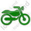 Motorcycle Plain Green Icon