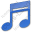 Music Plain Blue Icon