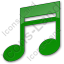 Music Plain Green Icon, PNG/ICO, 64x64