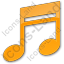 Music Plain Orange Icon, PNG/ICO, 64x64